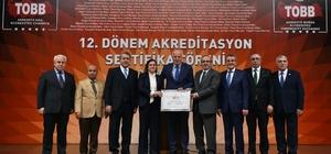 DTSO'nun akreditasyon belgesi yenilendi