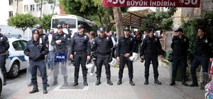 Alanya'da lise önünde protesto