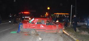 Edirne'de iki otomobil çarpıştı: 1 ölü, 5 yaralı