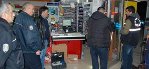 Kütahya'da marketten silahlı soygun