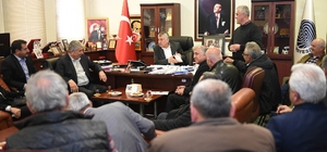 Yüreğir halkından Başkan Zeydan Karalar'a ziyaret