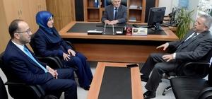 Kaymakam Çelik ve Başkan Toru'dan ziyaret