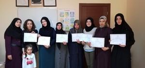 Saraylı kadınlar Arapça sertifikası aldı