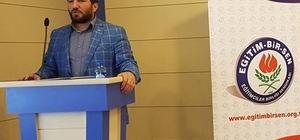 """Eğitim Bir Sen 2 Nolu Şube Başkanı Mustafa Karataş: """"Bir daha bu ülkede 28 Şubatlar olmayacak"""""""