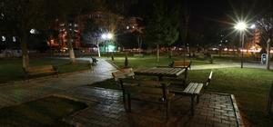 Haliliye parkları geceleri ışıl ışıl