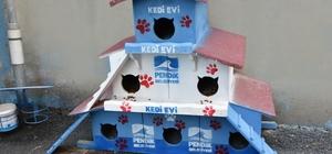 Pendik Belediyesinden okula kedi apartmanı