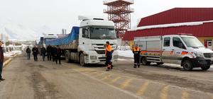 Erzurum'dan El Bab'a gıda yardımı