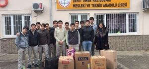 Köyceğizli öğrencilerden kardeş okula eğitim yardımı