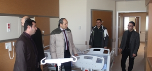 Demiraslan yeni şehir hastanesini inceledi