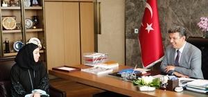 İndira Kaljo'dan Başkan Karadeniz'e teşekkür ziyareti