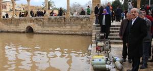 Tarihi Balıklıgöl'deki temizlik çalışması