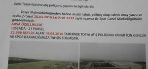 Tosya'ya Gençlik ve Spor Bakanlığı tarafından Trap Atış Poligonu yapılıyor
