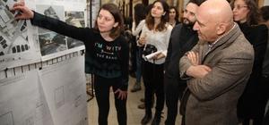 Mimarlık öğrencileri Başkan Altınok Öz'e Kartal için hazırladıkları projeleri sundu