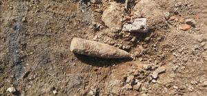 Kurtuluş Savaşı'ndan kaldığı tahmin edilen top mermisi bulundu
