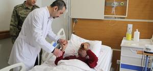 Hatay'da tedavisi süren Suriyeli pilot ailesiyle görüştü