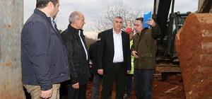 Başkan Toçoğlu, iki ilçenin içme suyu hattındaki çalışmaları inceledi