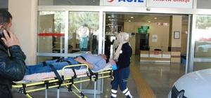 At arabasından düşerek yaralandı