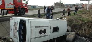 Tekirdağ'da işçi servisi devrildi: 18 yaralı