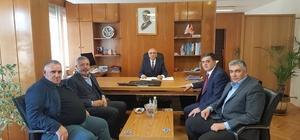 Başkan Yalçın'ın Karayolları 14. Bölge Müdürlüğü temasları