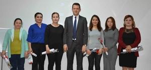 Ortaca'da kadın kursiyerler sertifika aldı