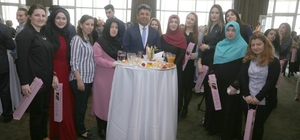 Başkan Temel Karadeniz'den kadın personele özel resepsiyon