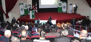 Gemerek'te çiftçilere yönelik eğitim semineri