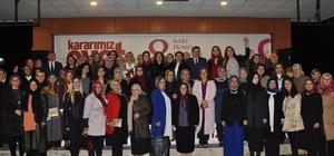"""Trabzon'da AK Partili ve MHP'li bin kadın """"Evet"""" için bir araya geldi"""