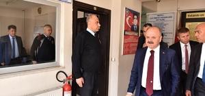 Vali Çakacak, Mezitli İlçe Emniyet Müdürlüğü'nde incelemelerde bulundu