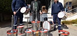 Muratpaşa Belediyesi'nden bando müzik aletleri yardımı