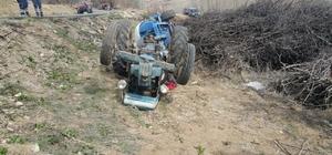 Malatya'da traktör devrildi: 1 ölü