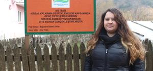 Genç çiftçiler hibe desteğiyle kivi bahçesi kurdu