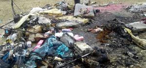 Suriye'de çadır kentte yangın
