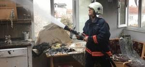 Aspiratörden çıkan yangın evi kül etti