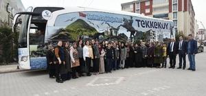 Tekkeköy halkının ecdadın destan yazdığı topraklara yolculuğu devam ediyor