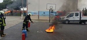 Akhisar'da 25 okula yangın eğitimi