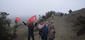 Bursalı dağcılar Ericek Göleti'nde