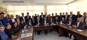 AK Parti İl Başkanı Revi, Maçka İlçe Başkanlığı'nda konuştu