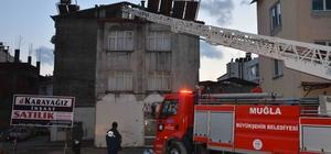 Ortaca'da çatı yangını