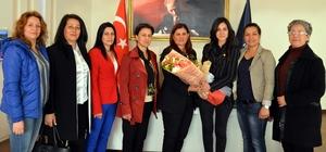 CHP İncirliova Kadın Kollarından Başkan Çerçioğlu'na ziyaret