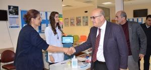 Başkan Sargın, sağlık çalışanlarını ziyaret etti