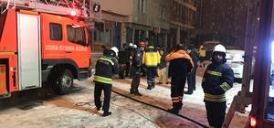 Erzurum'da iş yeri yangını