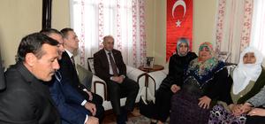 Erzurum Valisi Azizoğlu'ndan şehit ailesine ziyaret
