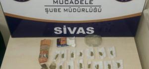 Sivas'ta kaçak içki ve uyuşturucu operasyonları