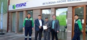 Beylikova doğal gaz abonelikleri başladı