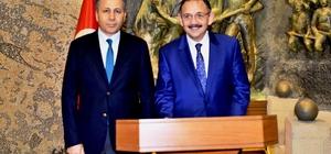 Bakan Özhaseki Gaziantep Valiliğini ziyaret etti