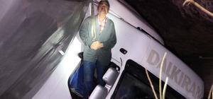 Konya'da tır sulama kanalına devrildi: 3 yaralı