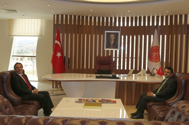 Nevşehir Valisi Aktaş, Rektör Bağlı'yı ziyaret etti