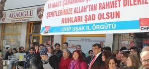 CHP Uşak İl Örgütü Çanakkale Şehitleri için lokma dağıttı