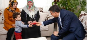 Başkan Fadıloğlu şehit ailelerini ziyaret etti