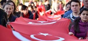 """Kastamonu'da """"Şehitlere Saygı"""" yürüyüşü"""